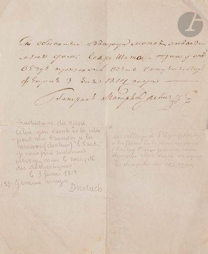 Fedor Ivanovitch DREWITZ (1767-1816) Sauf-conduit:...