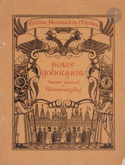 Programme de l'opéra de Moussorgski «BORIS...