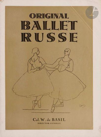 Ensemble de trois programmes des Ballets...