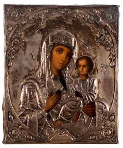 Icône de la Vierge dite «à trois mains»...