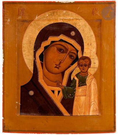 Icône de la Vierge de Kazan, fin XIXe siècle...