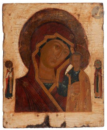 Icône de la Vierge de Kazan, fin du XVIIe...