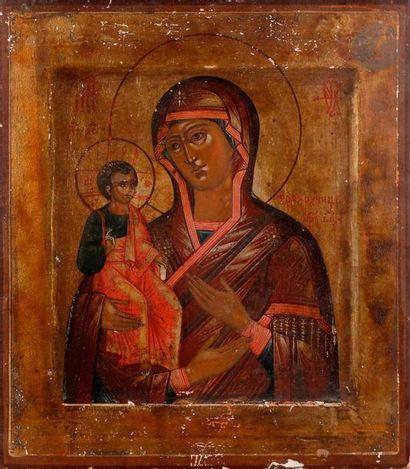 Icône de la Vierge de Tikhvin, seconde moitié...