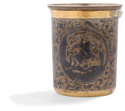 Gobelet en vermeil niellé, 1845 Gobelet à...