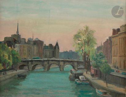 Andreï OUKRAINSKY (? - 1914) La Seine à Paris...
