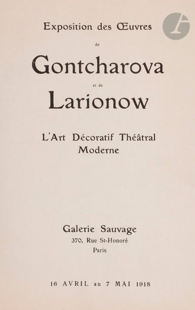 Quatre documents concernant Natalia GONTCHAROVA...