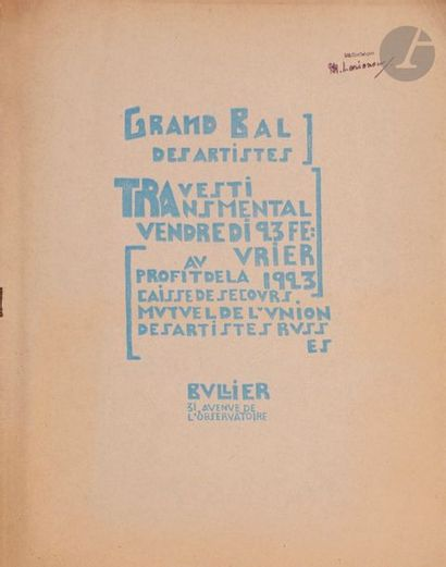 Grand Bal des Artistes TRAvesti TRAnsmental...
