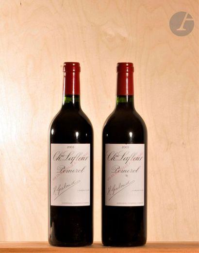 2 B CHÂTEAU LAFLEUR (1 accroc léger étiquette sinon parfaites), Pomerol, 2003
