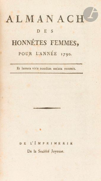 [ALMANACHS]. Ensemble de 3 almanachs révolutionnaires...