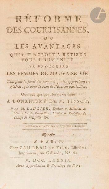 LAUGIER. Réforme des courtisannes (sic),...
