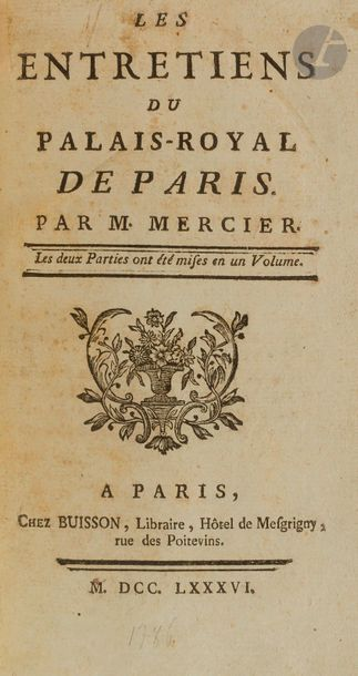 MERCIER (Louis-Sébastien). Les Entretiens...
