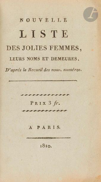 NOUVELLE LISTE DES JOLIES FEMMES, leurs noms...