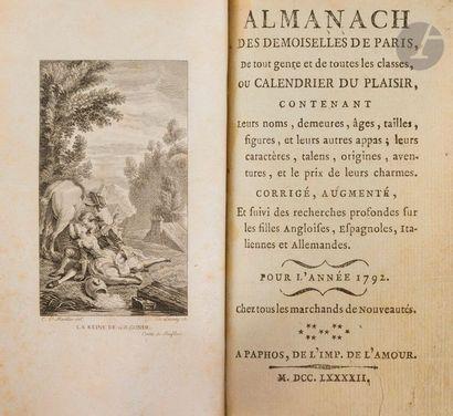 [ALMANACH]. Almanach des demoiselles de Paris,...