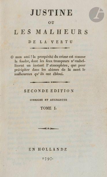 [SADE (Donatien Alphonse François de)]. Justine...