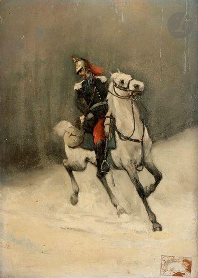 Léon HERMAND ou HARMAND École française de la fin du XIXe siècle - Trompette de...