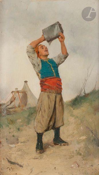 Marius ROY (1833-1921) Turcos se désaltérant,...