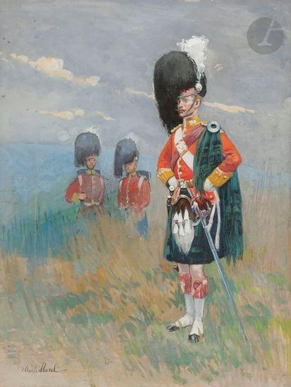 Charles MOREL (1861-1908) Officier de Highlanders,...