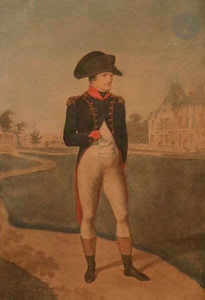 ISABEY, d'après Bonaparte dans les jardins...