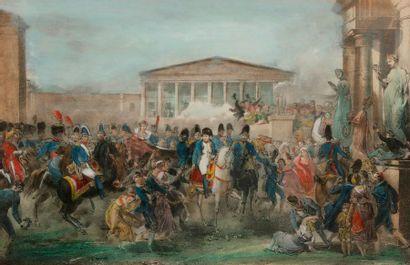 MARTINET, d'après Entrée de Napoléon et Joséphine...