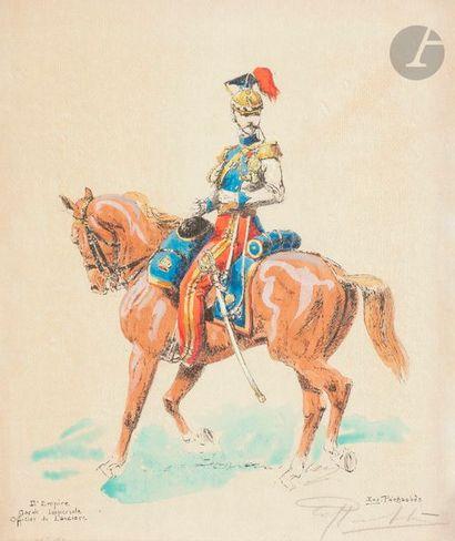 Eugène PECHAUBES, d'après Trompette de lanciers,...