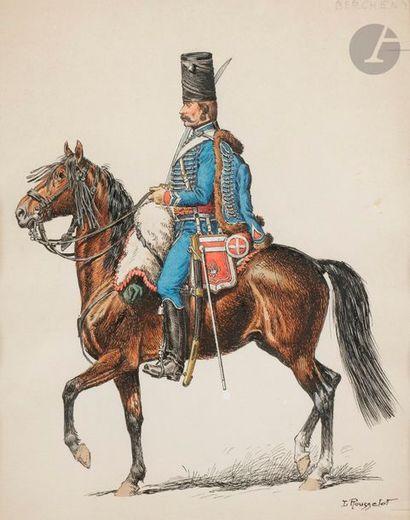 Lucien ROUSSELOT (1900-1992) Hussard de Bercheny...