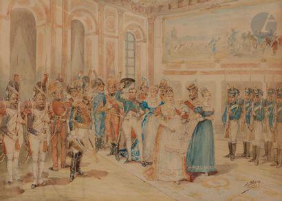 Albert BLIGNY (1849-1908) Réception officielle...