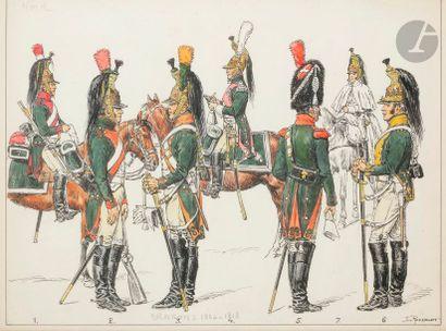 Lucien ROUSSELOT (1900-1992) Dragons (1804-1813)...