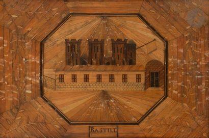 La forteresse de La Bastille Marqueterie...