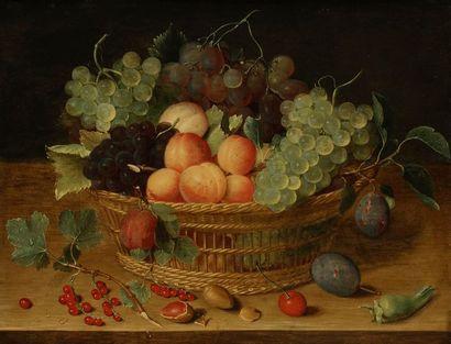 Isaak SOREAU (Francfort 1604 - 1644) Corbeille...