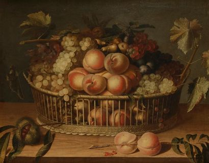 Paul DORIVAL (Grenoble 1604 - 1684) Corbeille...