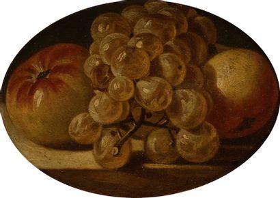 Dominique PERGAUT (Vasqueville - Meurthe- 1726 - Luneville 1808) Groseilles à maquereaux...