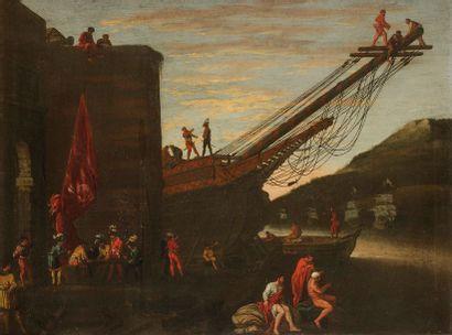 Agostino TASSI (Rome 1578-1644) Bateau en...