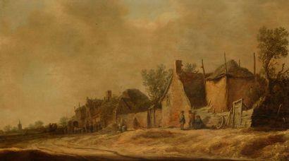 Attribué à Jan Van GOYEN (1596-1656) Paysan...