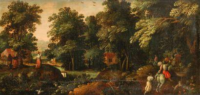 École FLAMANDE vers 1600, entourage de Gillis...