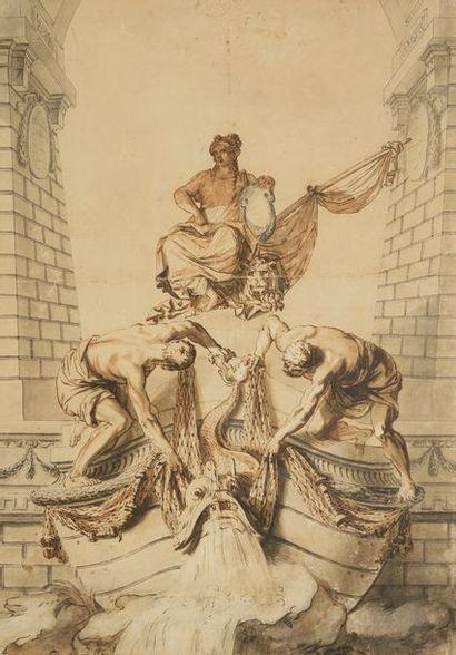 École française du XVIIIe siècle Allégorie...