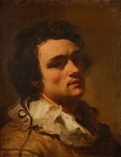 Henri TRAIVOEL (actif à Rome en 1622) Autoportrait présumé Toile 50,5 x 40,5 cm...