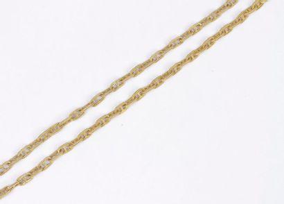Long collier en or 18K (750), articulé de...