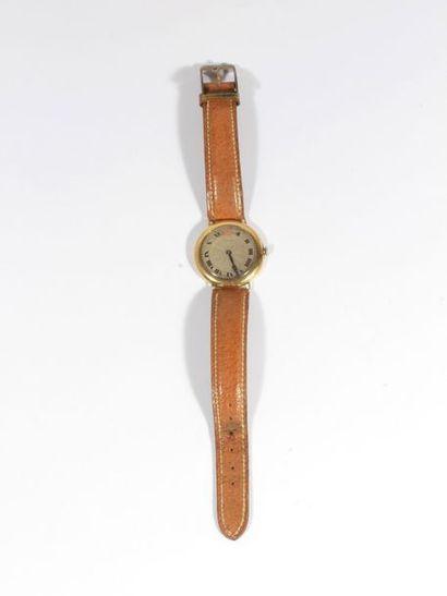 LONGINES. Montre bracelet pour femme en or...