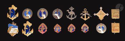 16 insignes Sahariens Troupes Coloniales-...