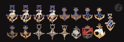 17 insignes Sahariens Troupes de marine:...
