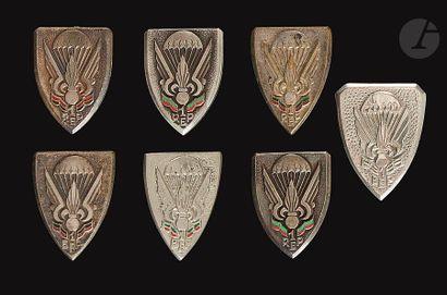 7 insignes Parachutistes Légion Etrangère...