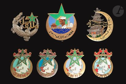 7 insignes - 4 modèles du GMNA (1 [ANC]),...