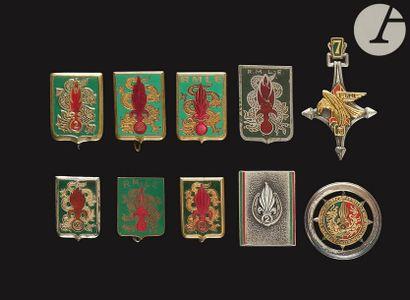 10 insignes RMLE et 2e REI - 3 RMLE (locale...