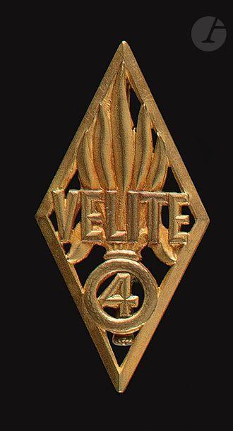 Très rare Vélite 4e DBLE doré ajouré Dr Ber...