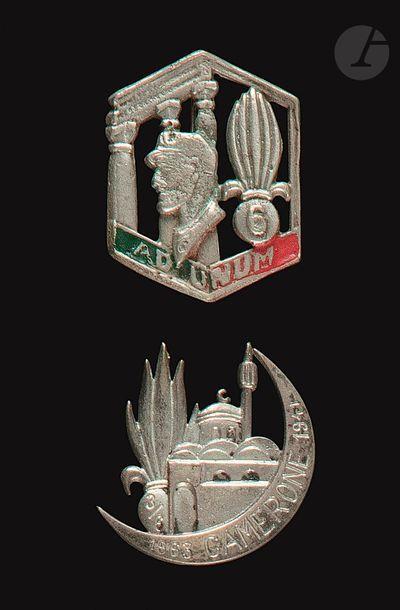 2 insignes- 6e REI [ANC] et 3/6 fabrication...