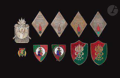 10 insignes du RMVE - 4x 11e REI (2 Dr Ber,...