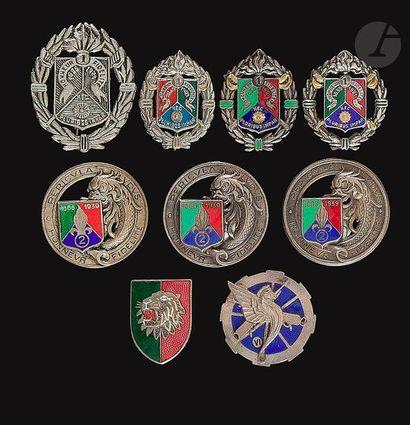 9 insignes – 4x Légion 1er REC (Abp, Dr Ber,...