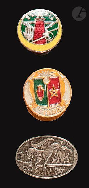 3 insignes - 7e Dina, 81e [ANC], 82e DIA....