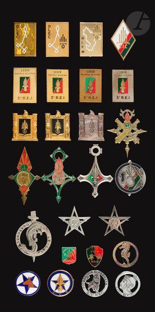 26 insignes divers Légion dont CS et CT du...