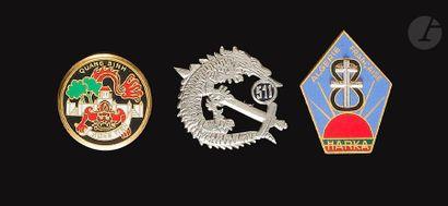 3 insignes - Commandos Légion Commando Gruebler...